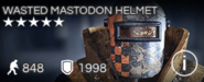 Wasted Mastodon Helmet