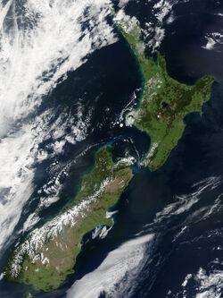 Satellite Image of New Zealand 23 October 2002