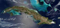 Satellite Image of Cuba