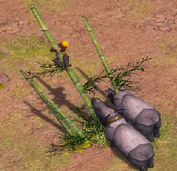 Rhinos gaurding treasure