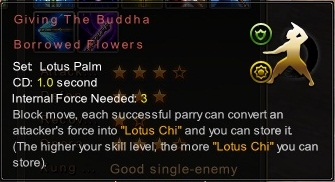 (Lotus Palm) Giving The Buddha Borrowed Flowers (Description)