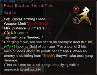 (Wind-Catching Blade) Fast Blades Shred The Grass (Description)