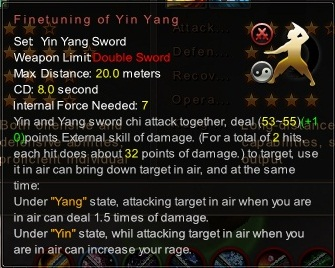 (Yin Yang Sword) Finetuning of Yin Yang (Description)