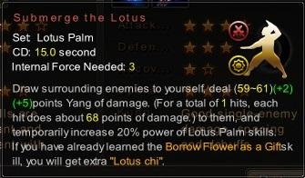 (Lotus Palm) Submerge the Lotus (Description)