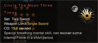 (Taiji Sword) Circle The Moon Three Times (Description)