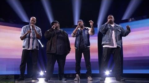 America's Got Talent 2016 Linkin' Bridge Soulful Acapella Group Live Shows Round 3 S11E16
