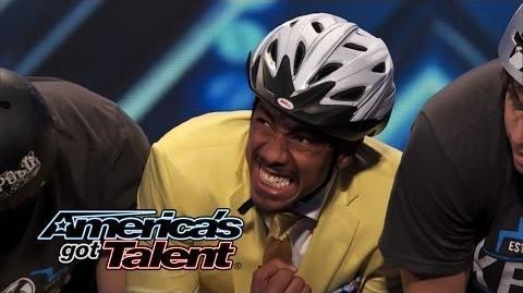 Xpogo Stunt Team Pogo Crew Flips Over Nick Cannon - America's Got Talent 2014