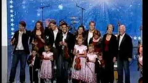 America's Got Talent - The Duttons, baby flips off Piers!!
