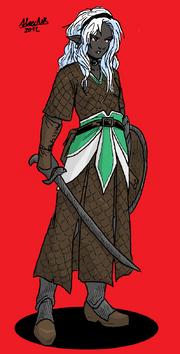 Elf Drow mercenary