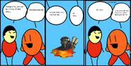 Comic 4: Orange Kirby and the Bulk Star