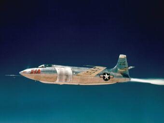 Bell X-1A in flight