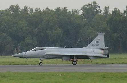 File:Side view of JF-17 taxiing with trucks in background cropped version-1-.jpg