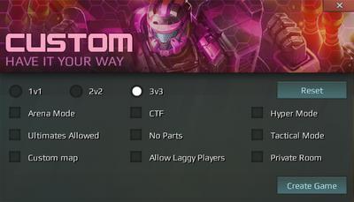 Custom Gamemode Options