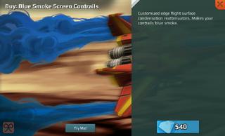 Blue Smoke Screen Contrails Full
