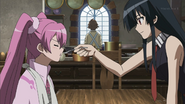 Akame feeding Mine