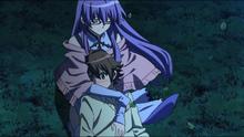 Sheele hugging Tatsumi