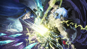 Susanoo clashes with Esdeath