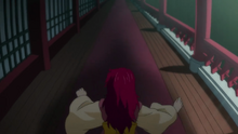 Yona is chased by an unknown person
