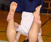 Schulterstand auf den Händen
