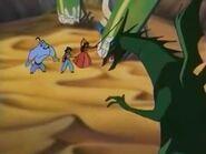 The Dragon attack Genie Jasmine and Sadira.