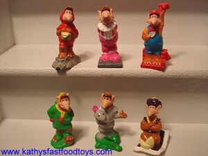 Wendy's ALF figures 1990