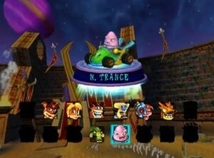 N.Trance in Nitro Kart.