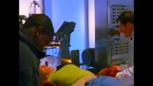 Sirez and Peron restrain Tina as Peron starts the machine.