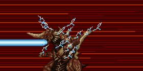 Bagan's Monster Form unleashes his Plasma Beam.