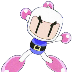 The white Bomberman is the main character of the Bomberman-Games