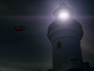 The lighthouse and spaceship