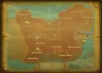Coba treasure map