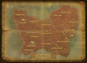 Map coba plateau
