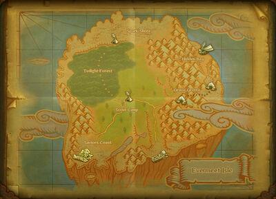 Evermeet Isle map