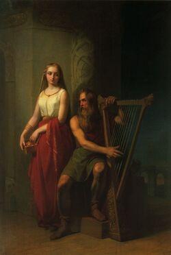 Iðunn and Bragi by Blommer