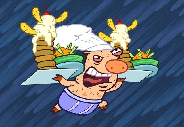 File:Pig with food.jpg