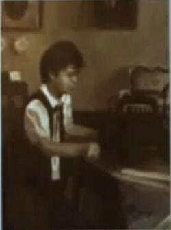 Photo jeremy Mortan as a child