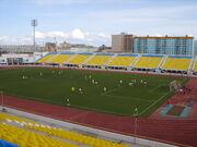 Футбольный матч на стадионе -Туймаада-