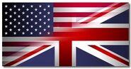 American and British Flag
