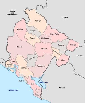 Municipalities of Montenegro