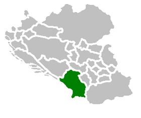 SAO Crna Gora map