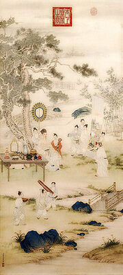 220px-The Qianlong Emperor Viewing Paintings