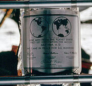 220px-Apollo 11 plaque closeup on Moon-1-