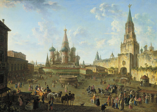 File:Red Square in Moscow (1801) by Fedor Alekseev.jpg