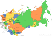 Map of the Soviet Union (New Union)
