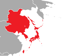 Map of Japan in Pauvre Monde