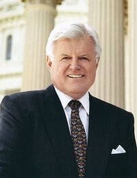 463px-Ted Kennedy, official photo portrait crop