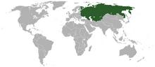Location of the Soviet Union 1938