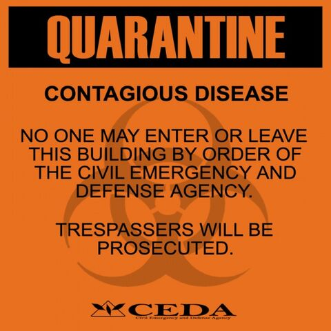 File:Sign quarantine orange display.jpg