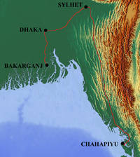 Bengali Railway Map 1870