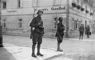 Czechoslovak soldiers in Krásná Lípa